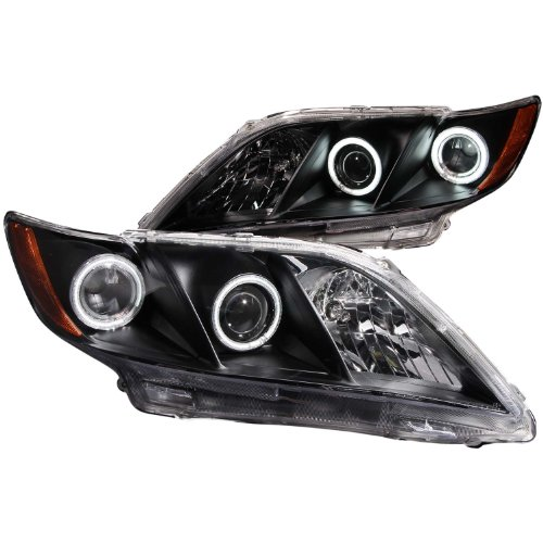 Anzo USA 121181 Toyota Camry Projector with Halo/Black Clear with Amber Reflectors Headlight Assembly - (Sold in Pairs)