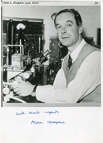 Alan Lloyd Hodgkin Nobel Prize 1963 Autograph, Signed Photograph