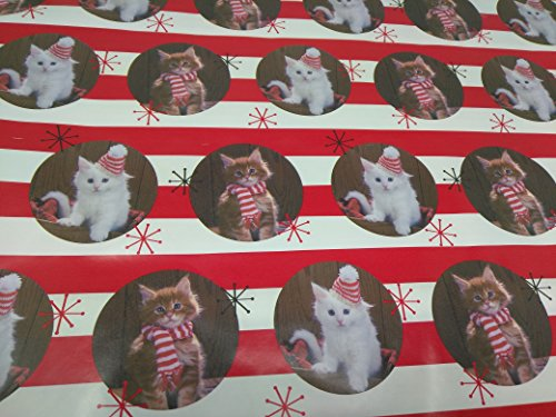 Christmas Wrapping Holiday Paper Gift Greetings 1 Roll Design Festive Wrap Cat