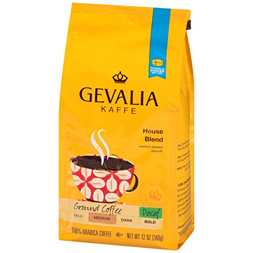Gevalia House Blend Decaf Ground Coffee,12 oz Bag (Pack of 6) ()