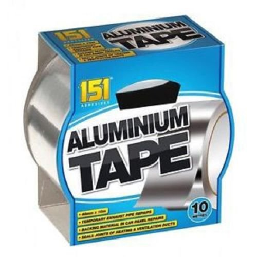 Aluminium Tape Adhesive Aluminium Foil Tape Heat Proof Multiple Use 48mmX10M FC