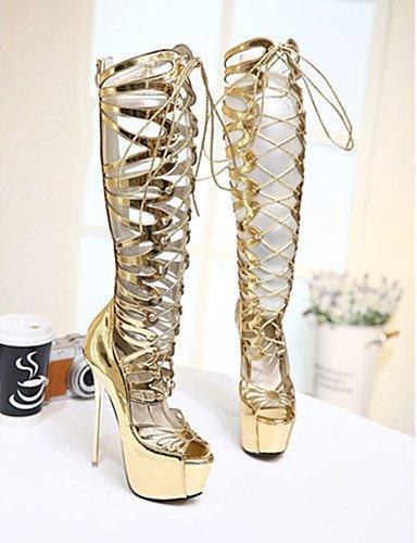 GGX/ Damenschuhe-High Heels-Lässig-PU-Stöckelabsatz-Absätze-Gold golden-us5.5 / eu36 / uk3.5 / cn35