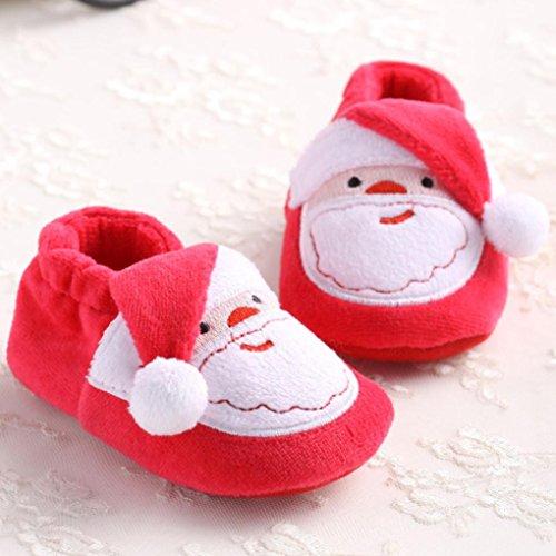 Zapatos Bebé,Xinantime Papá Noel Prewalker Zapatos Suave para Navidad (17)