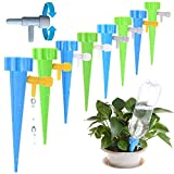 LOCOLO 16 PCS Upgrade Plant Self Watering Spikes System, Vacation Plant Watering Devices with Slow Release Control Valve Switch - Care Your Indoor & Outdoor Plants-Automatic Plant Watering System
