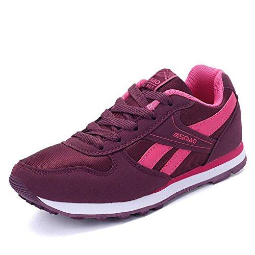 CAI Los Amantes de Las Zapatillas de Deporte 2018 Primavera y Verano Zapatos de Estilo Personas de la Tercera Edad En la Mediana Edad Senior Zapatos Transpirables Zapatos Rosado