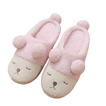 886a24b7 SFHK Otoño Invierno Algodón Zapatillas Dibujos Animados Cordero Mujer Casa  Interior Mantener Caliente Zapatilla Zapatos: Amazon.es: Deportes y aire  libre