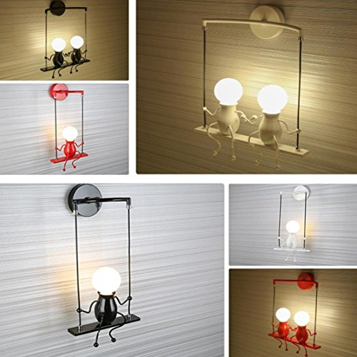 SOUTHPO LED Wall Light Fixtures Creative Cartoon Little People Wall Sconces  Lighting Indoor Bedroom Hallway Shop Modern ...