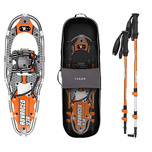 Yukon Charlie's Advanced 9 x 30 in. Men's Snowshoe Kit w/ Poles & Bag | 80-3003K by Yukon Charlie's
