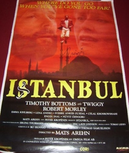 Istanbul Twiggy Lawson Signed Autographed 27x40 Movie Theatre Poster - Twiggy Thin