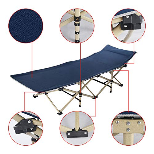 Topgee Single Folding Bed Office Napping Bed Folding Bed Outdoor Camp for Traveling Hunting by Topgee Home and Garden (Image #5)