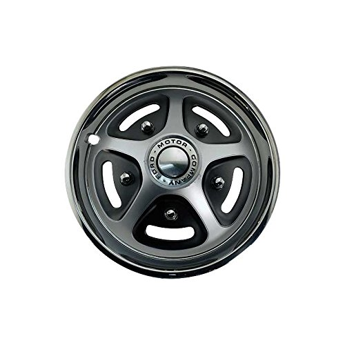 MACs Auto Parts 48-46281 Ford Pickup Truck Wheel Cover - Simulated Mag Style - Front Or Rear 2-Wheel Drive