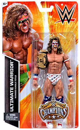 WWE Wrestling Champions Ultimate Warrior Exclusive Action Figure [Winged Eagle Title] (Wwe Eagle Belt compare prices)
