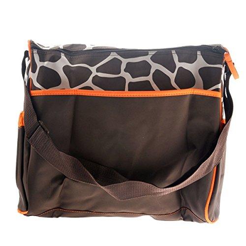 PRIMI 1Cute Giraffe Pattern Multifunktions-Große Kapazität Baby Windel Wickelunterlage Mumienschlafsack orange