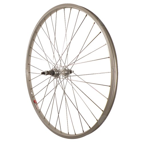 Bicycle Rear Wheel (Sta-Tru Wheel AL 26 Fwheel Sta-Tru Bolt-On Silver)