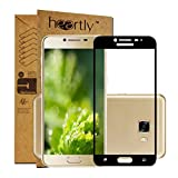 Heartly Premium Samsung Galaxy C5 Tempered Glass 3D Curved Edges Full Screen Protector With Upgraded Frame Technology - Best Black