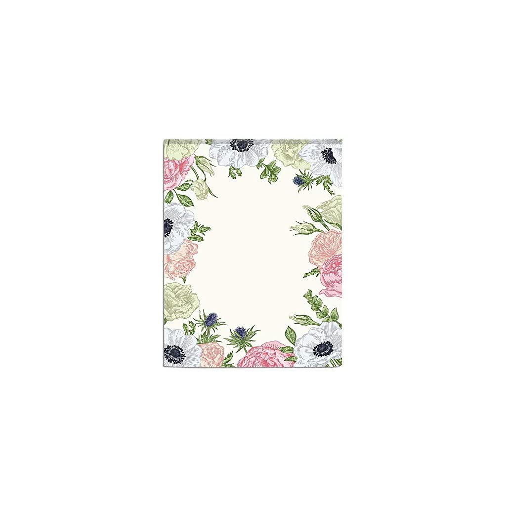 3D-printed-Magic-Stickers-Door-CurtainAnemone-FlowerSpring-Nature-Inspired-Framework-with-Pastel-Colored-Flora-DecorativePistachio-Green-Pink-Silver-Privacy-Protect-for-KitchenBathroomBedroom1