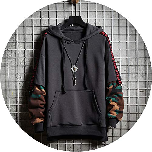 love enjoy Men Camouflage Hooded Sweatshirts 2019 Hiphop