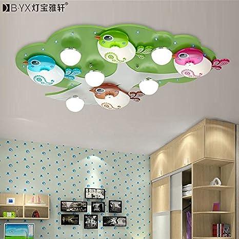 TYDXSD Habitación iluminación plafones nuevo árbol infantil ...