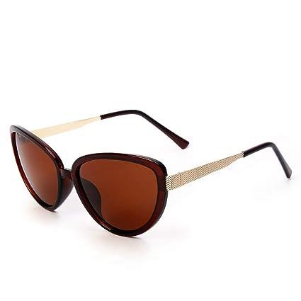 Sakuldes Gafas de Sol polarizadas para Mujer Gafas de Sol Vintage de Gran tamaño con Estilo