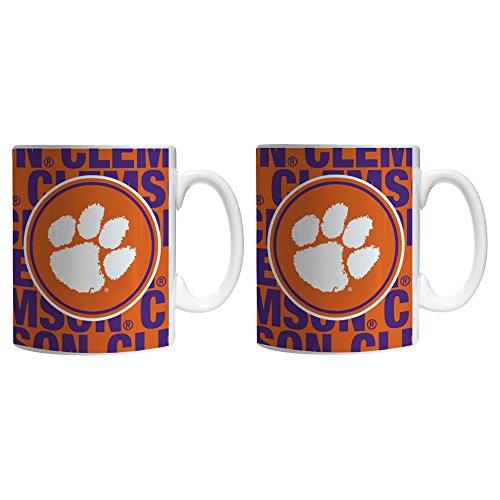 NCAA Clemson Tigers Sculpted Bold Mug, 11-ounce, 2-Pack
