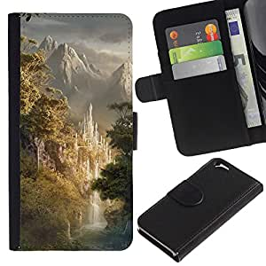 All Phone Most Case / Oferta Especial Cáscara Funda de cuero Monedero Cubierta de proteccion Caso / Wallet Case for Apple Iphone 6 // Design Japanese Forrest Mountains