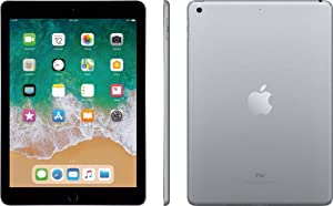 Apple iPad 9.7in 6th Generation WiFi + Cellular (128GB, Space Gray) (Renewed)