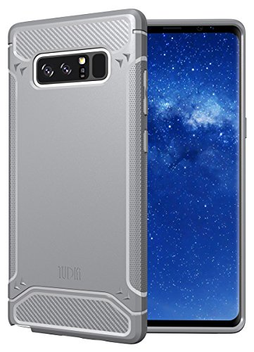 Galaxy Note 8 Case, TUDIA Carbon Fiber Design Lightweight [TAMM] TPU Bumper Shock Absorption Cover for Samsung Galaxy Note 8 (Gray)