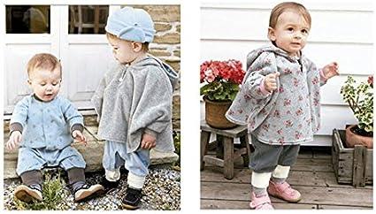 ZUMUii Butterme Cute Baby Inverno Caldo Doppio Lato di Usura con Cappuccio del Capo Poncio del Cappotto per i Bambini Della Neonata del Bambino dei Ragazzi