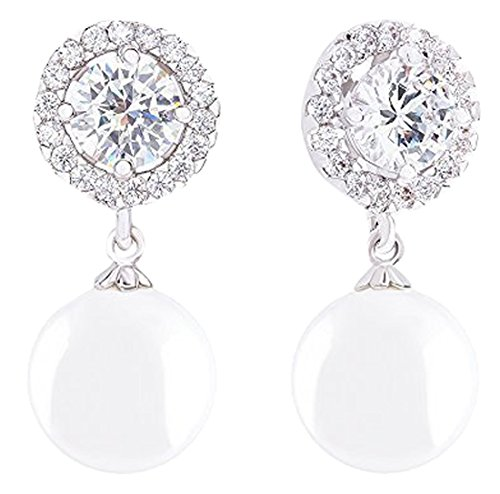 Simulated Solitaire Zirconia Earrings 10 5 11mm product image