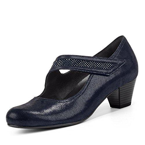 mujer Strass 36 de 76 147 Gabor Lisa Nightblue Zapatos 36 de para Piel vestir qSBFwUvO