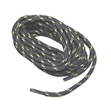 Dark Grey Gray w/ Yellow Kevlar(r) Reinforced Heavy Duty Boot Laces Shoelaces (2 Pair Pack)