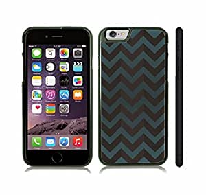 Case Cover For SamSung Galaxy S3 with Chevron Pattern Dark Slate Blue/ Black Stripe Snap-on Cover, Hard Carrying Case (Black)