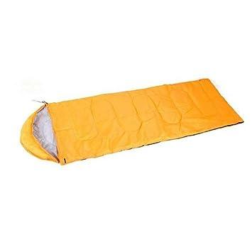 OUTERDO Camping senderismo traje caso saco de dormir bolsa con cremallera, amarillo: Amazon.es: Deportes y aire libre