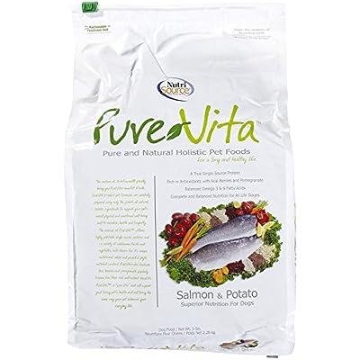 Nutri Source Pure Vita Salmon And Potato Dry Dog Food, 5 Pound Bag