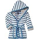 Kapital K Knit Terry Cloth Bath Robe with Hood, Stripe, One Size/Newborn