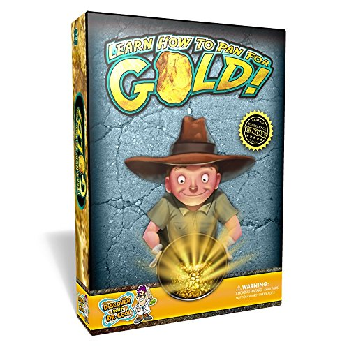Discover with Dr. Cool Pan for Gold Science Kit - Learn Gold Panning and Become a Prospector! ()