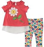 Kids Headquarters Toddler Girls' Tunic Set-Transitional, Red/Print, 3T