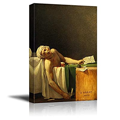 Pretty Creative Design, The Death of Marat by Jacques Louis David Print Famous Painting Reproduction, Classic Artwork