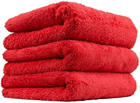 Chemical Guys Happy Ending Ultra Plush Edgeless Microfiber Towel, Red