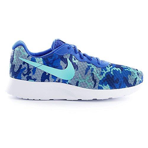 Nike Damen Wmns Tanjun Print Turnschuhe, Weiß Blau (Rcr Bl / Hypr Trq-Pr Pltnm-Dp Ry)