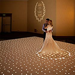 1010 Feet LED Event Disco Wedding White Starlit Dance Floor Starlit White Dance Floor