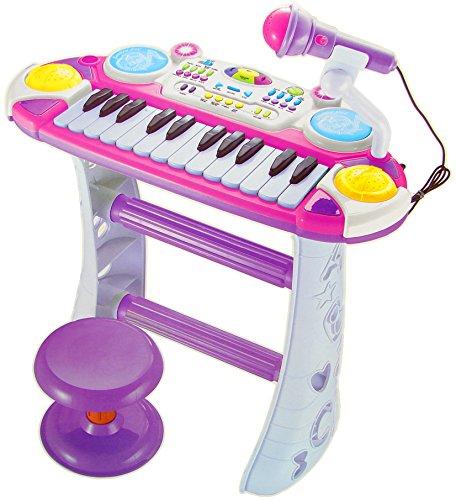 Kinder Piano / Keyboard mit Hocker und Mikrofon