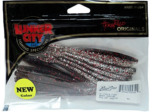 Lunker City 4-Inch Fin-S Minnow - 2 Packs - Vampire #25340