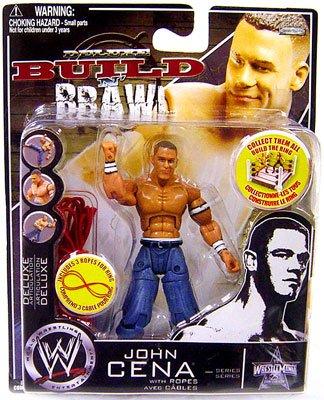 WWE Wrestling Build N' Brawl Wrestlemania 25th Anniversary Mini 4 Inch Figure John (Wwe Build N Brawl Ring)