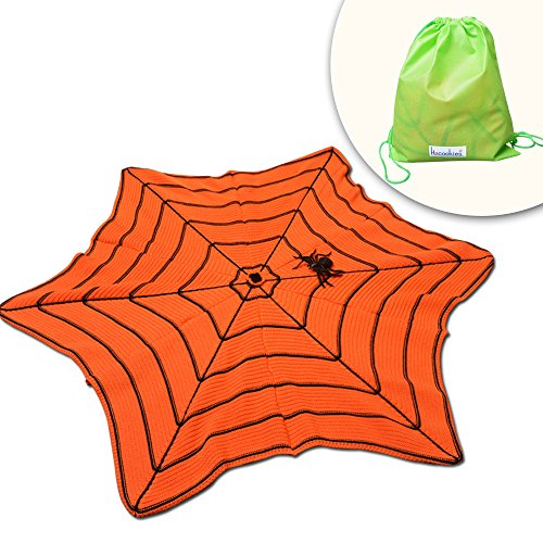 (Hacookies,All Saints' Day Halloween Spider Webs Pumpkin Personalized Crocheted Knitted Cashmere Sofa Bedding Blanket,Floor Rug Bathroom Doormat Carpet Mats,Spiderwebs Tablecloth)