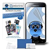 iTALKonline Samsung Galaxy S5 SV SM-G900F I9600 / Galaxy S5 Neo Clear Transparent LCD Screen Protector Guard with MicroFibre Cleaning Cloth and Application Card