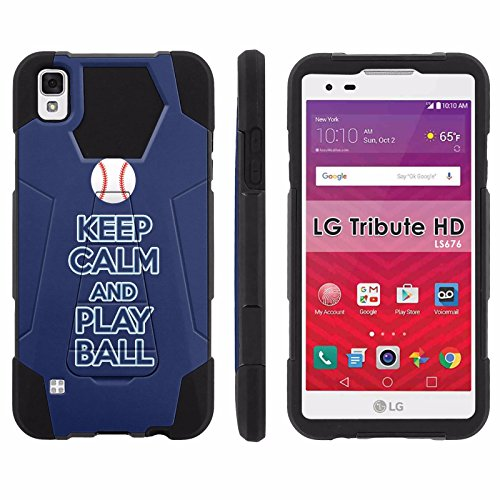 LG Tribute HD Phone Cover, Keep Calm and Play Ball - Tampa Bay- Hexo Hybrid Armor Phone Case for [LG Tribute HD] with [Kickstand] by Mobiflare