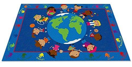 Kid Carpet 4' FE801-22A World Character Nylon Area Nylon Rug Area 4' x 6' Multicolored [並行輸入品] B075QHC4NY, hoo Nigen gallery:da6ed14f --- itxassou.fr