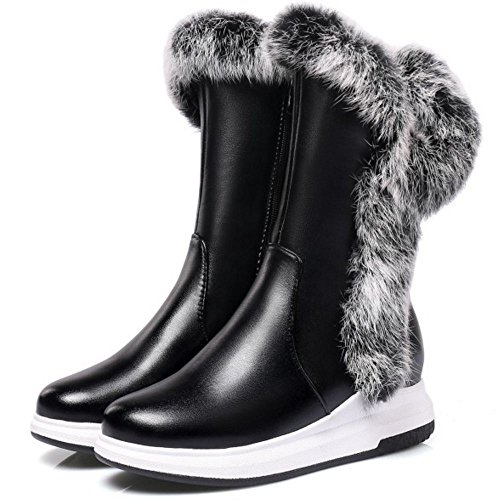 Black Taoffen Snow Boots Zipper Women's wxTvxI