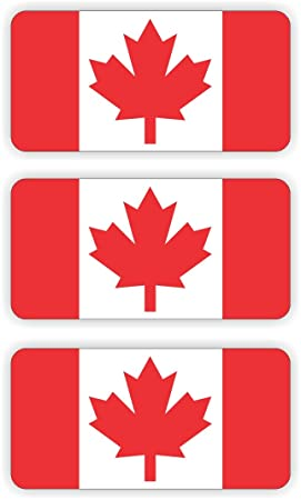 Canada flag hard hat sticker decal label tool lunch box helmet canadian maple leaf